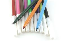 Set Of Color Felt-tip Pens Stock Photo