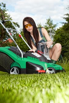 Free Mowing The Lawn Royalty Free Stock Image - 13793506