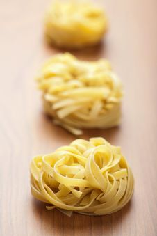 Free Raw Pasta Tagliatelle Royalty Free Stock Photo - 13794475