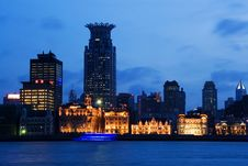 Historic Buildings In The Bund In Shanghai Royalty Free Stock Image