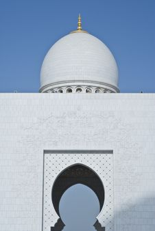 Free The Dome And An Arch At A Mosque Royalty Free Stock Photos - 13794878