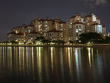 Free Colourful Light Reflections At Kallang Basin Royalty Free Stock Photography - 13795107