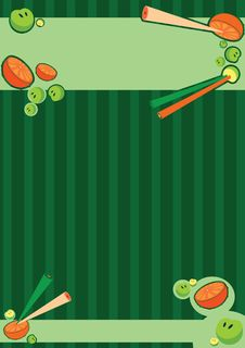 Wall-paper With Elements Of An Orange . Royalty Free Stock Photography