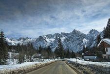 Free Snow On The Dolomites Mountains, Italy Stock Photos - 13796203