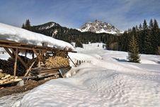 Free Snow On The Dolomites Mountains, Italy Stock Image - 13796211