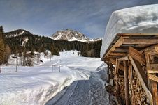 Free Snow On The Dolomites Mountains, Italy Royalty Free Stock Image - 13796216