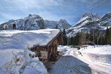 Free Snow On The Dolomites Mountains, Italy Stock Photo - 13796220