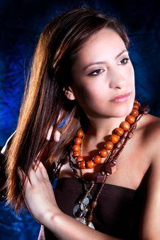 Free Young Beautiful Elegant  Brunette Stock Photo - 13796390
