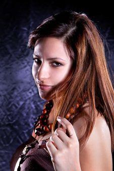 Free Young Beautiful Elegant  Brunette Stock Image - 13796411