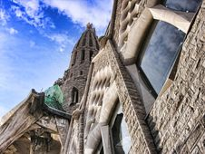 Free Sagrada Familia From The Ground, Barcelona, Spain Stock Images - 13796414