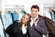 Young Couple In Shop Royalty Free Stock Photography