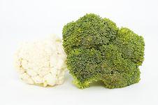 Free Cauliflower And Broccoli Stock Image - 13796701
