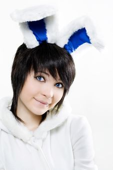 Free Easter Bunny Woman Stock Photography - 13797222