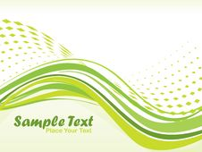 Free Abstract Wave Background, Illustration Royalty Free Stock Photography - 13797677