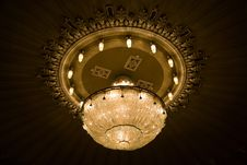 Free Chandelier In The Theater Stock Image - 13797901