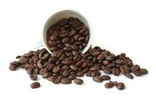 Free Cup With Coffee Beans Royalty Free Stock Photos - 13797948