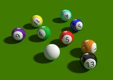 Free Billiard Balls Stock Images - 13797954