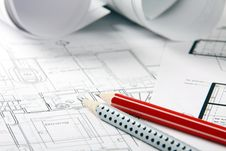 Free Blueprints Royalty Free Stock Photo - 13798225