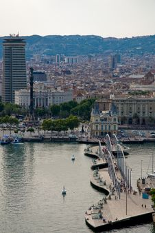 Free Rambla Del Mar, Barcelona Royalty Free Stock Photos - 13798448