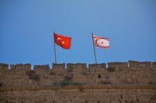 Free Turkey And Cyprus Flag Stock Photo - 13798480