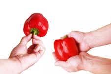 Free Two Red Pepper Stock Photos - 13798533