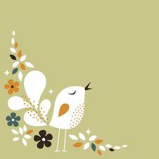 Free Sweet Bird Card Design Royalty Free Stock Photography - 13799537