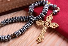 Free Cross With Chain Royalty Free Stock Image - 13799926