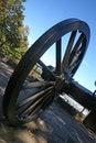 Free Vintage Cannon Wheel Royalty Free Stock Photos - 1381128