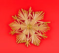 Free Isolated Christmas Decoration On Red Background Stock Photography - 1382142