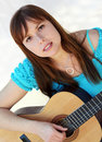 Free Woman Playing Guitar Royalty Free Stock Photography - 1385987
