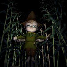 Free Sad Little Scarecrow Stock Photo - 1380050