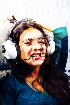 Free Headphone Woman Stock Photos - 1380403