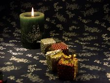 Free Christmas Candle Royalty Free Stock Photo - 1380845