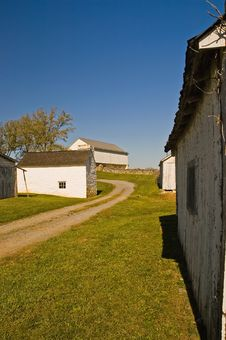 Free Old Farm Buildings - 2 Royalty Free Stock Image - 1381646