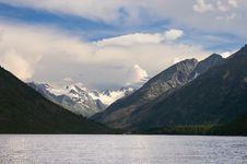 Free Mountains And Lake. Royalty Free Stock Image - 1382126