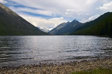 Free Mountains Landscape And Lake. Royalty Free Stock Photos - 1382128