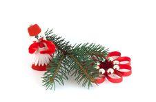 Free Isolated Christmas Decorations On White Background Stock Photos - 1382133