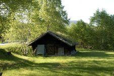 Norwegian Log House Royalty Free Stock Images