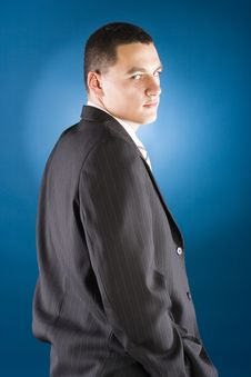 Young Businessman Standing Stock Photography
