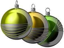 Free Christmas Balls Royalty Free Stock Photography - 1383827