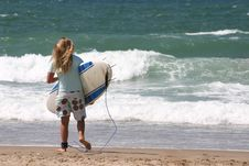 Free Teen Surfer Stock Image - 1383831