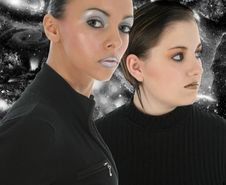 Free Galactic Women Royalty Free Stock Images - 1383899