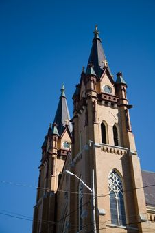 Free Bell Tower Of A Small Town Church Stock Photos - 1384833
