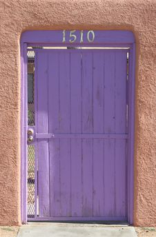 Free Purple Door Royalty Free Stock Image - 1385256