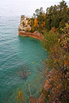 Free Miners Castle Pictured Rocks Stock Image - 1385991