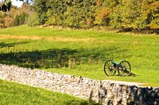 Free Civil War Cannon At Antietam - 2 Stock Photo - 1386260
