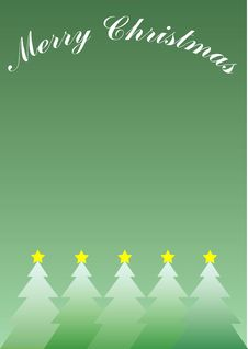Christmas Trees With Stars Royalty Free Stock Photography