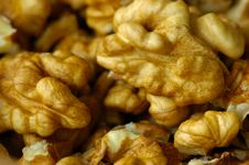 Shelled Walnuts Royalty Free Stock Photos