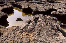 Rocks On The Seashore Of Gozo Island Royalty Free Stock Image