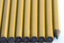 Wooden Yellow Pencils Royalty Free Stock Images